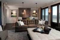 Hamptons Inspired Luxury Home Family Room Robeson Design ...