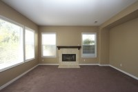 Vibrant Transitional Family Room Before and After   San ...