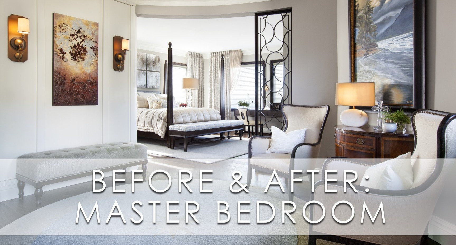 Hampton Style Bedrooms Hamptons Inspired Luxury Master Bedroom Before And After