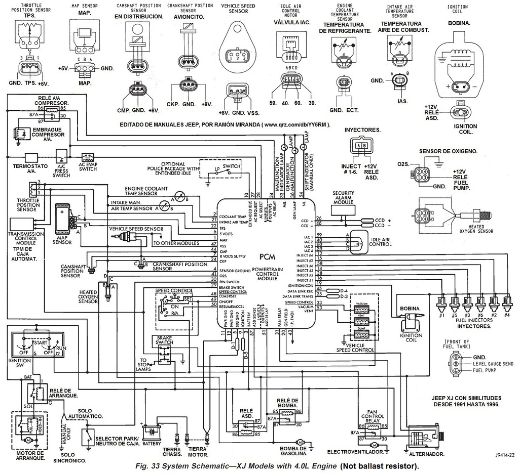 bedford diagrama de cableado de la computadora