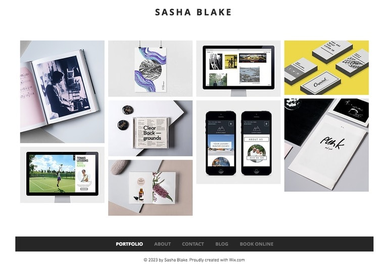 300+ Free Wix Templates Pros and Cons of These Themes - online portfolio template