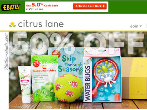 """50% OFF your Citrus Lane purchase with promo code """"FIRST"""""""