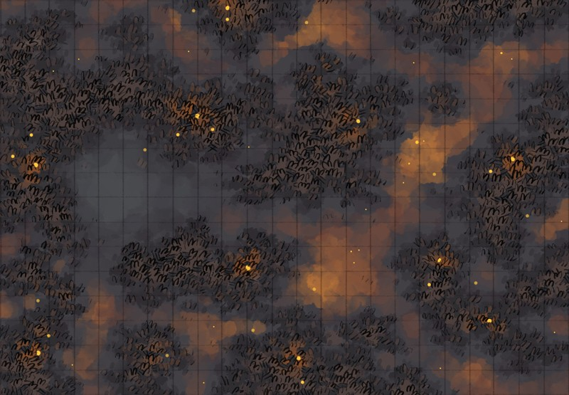 Haunted Marsh battle map