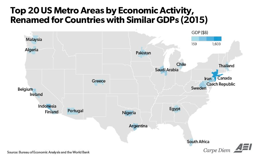 These 3 Maps Help to Visualize America\u0027s $18 Trillion Economy