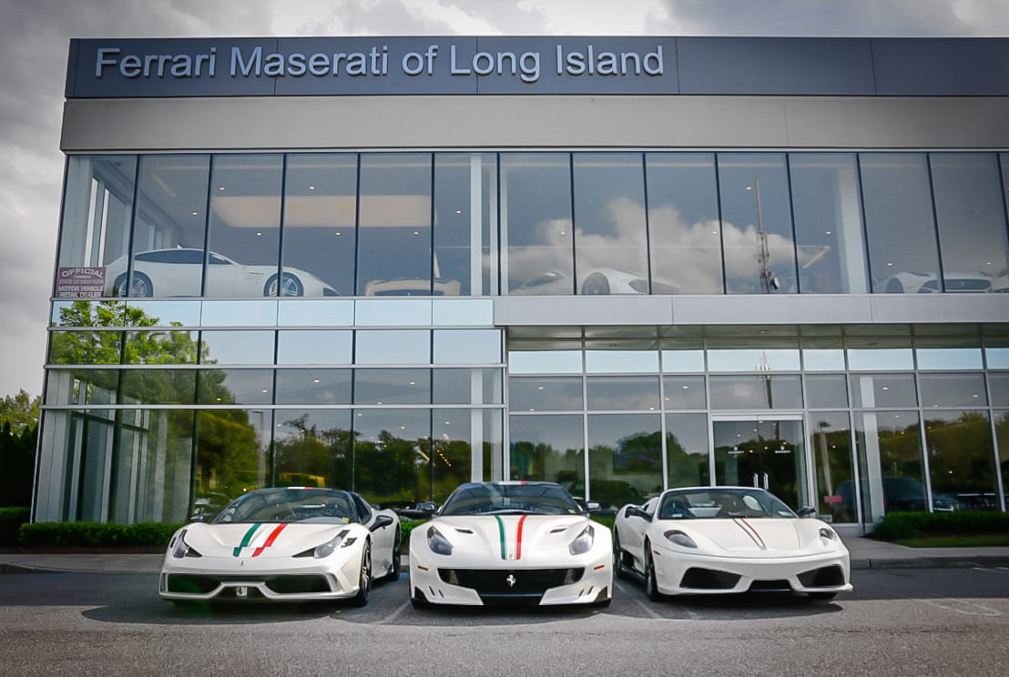 Garage For Sale Long Island Three Matching Masterpieces From Ferrari Of Long Island