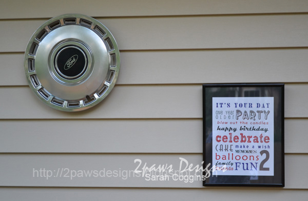 Cars Birthday Party Outside Decor