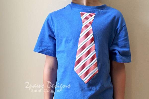 15 Minute (no sew!) DIY Necktie Shirt