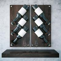 How to Use A Wall-Mounted Wine Rack As Home Decor
