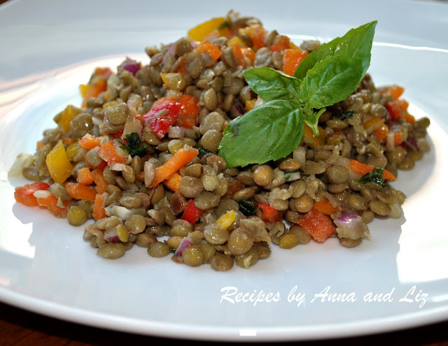 Summery Rice and Lentil Salad