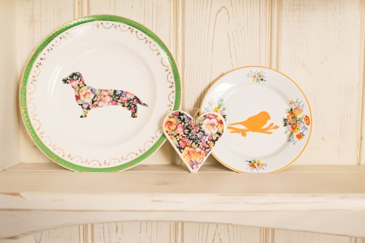 Upcycled Vintage Plates