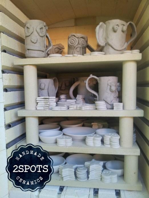 Pottery Face Mugs Firing