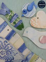 Pottery Wall Art Blue