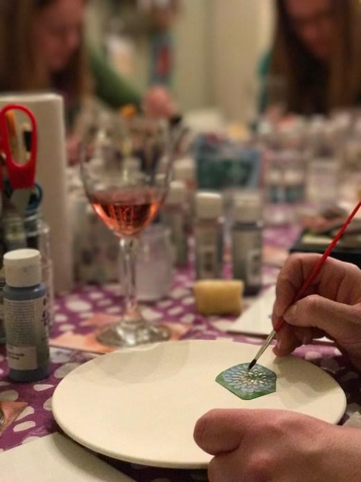 ladies night painting in progress