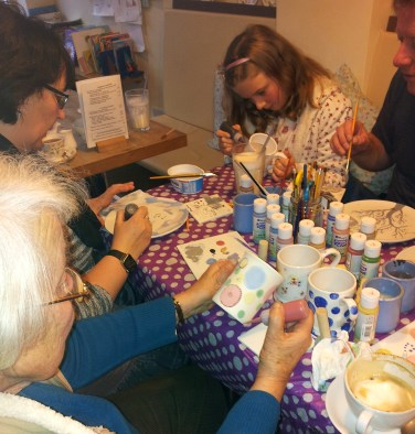 Pottery Painting at The Leaf and Bean Cafe
