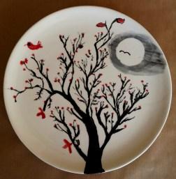 Tim's Painted Tree Plate