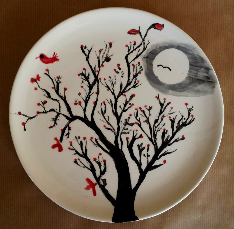 Tim's Painted Tree Plate