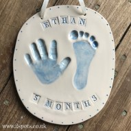 Imprint with Stamped Letters Blue