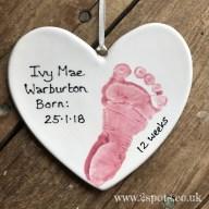 Pink Footprint Heart