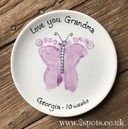 Butterfly feet for Grandma