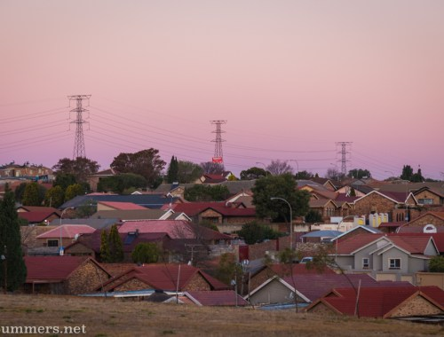Sunset in Alexandra Township