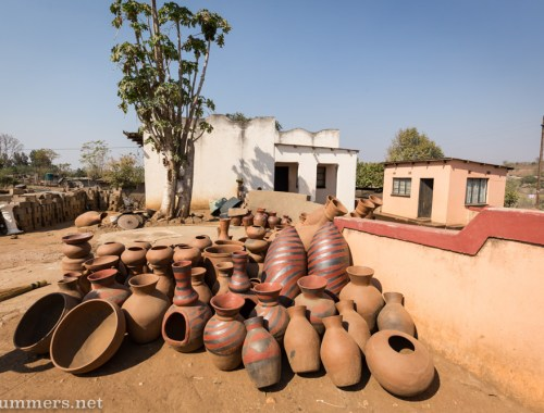 Outside Mukhondeni Village Pottery