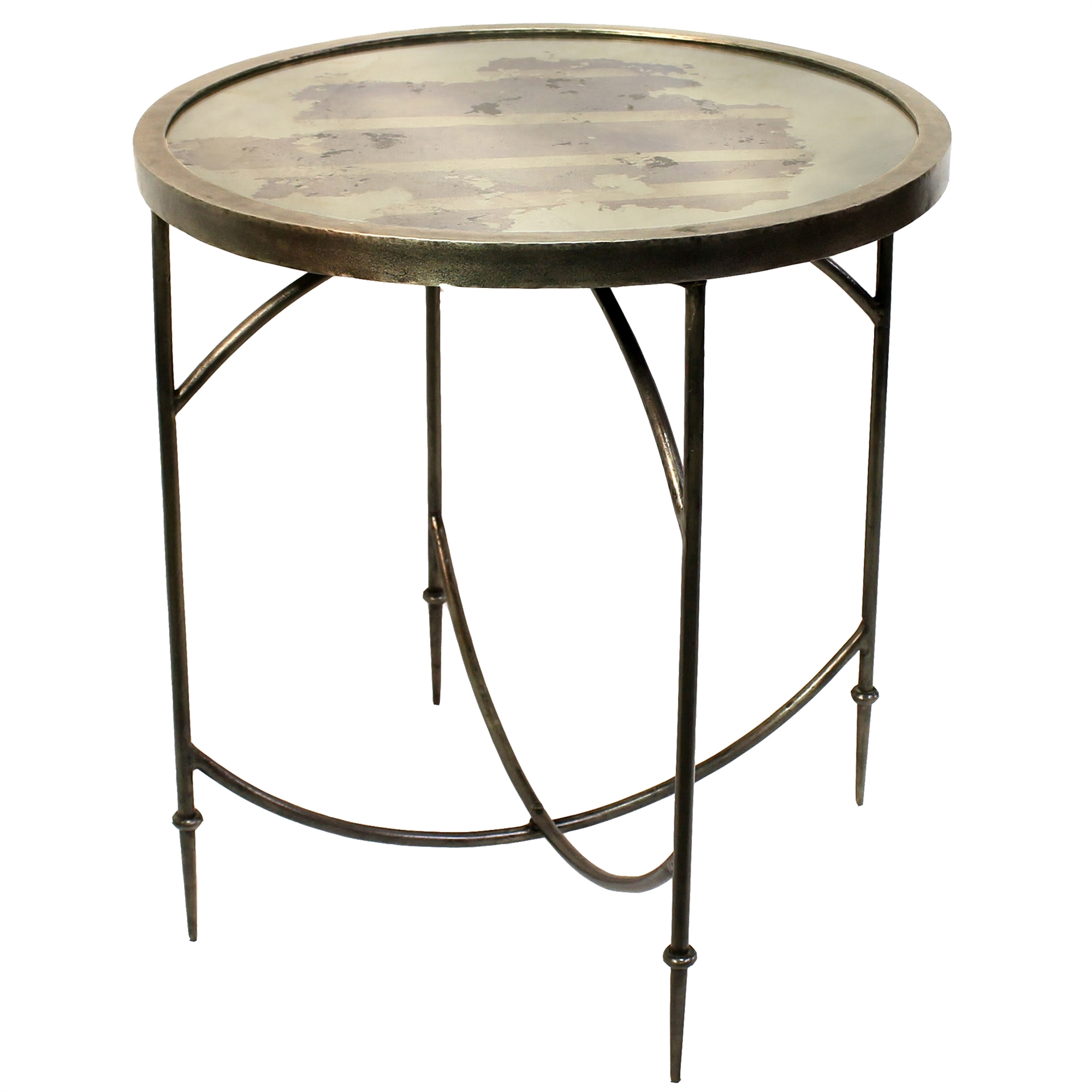 Carrefour Table Small Carrefour Mirrored Side Table By Homart
