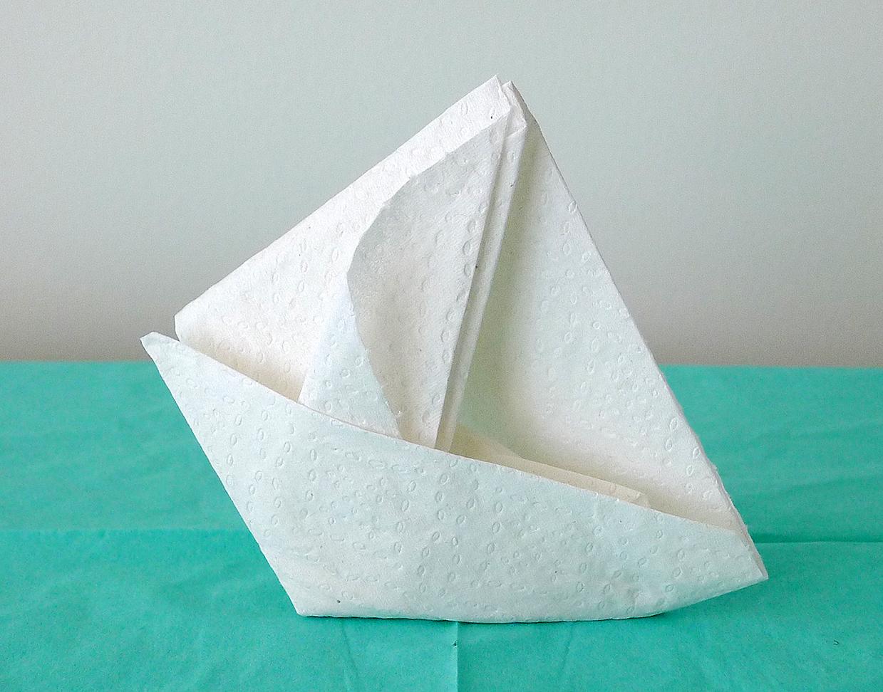 Pliage Serviette Papier Bateau A Voile