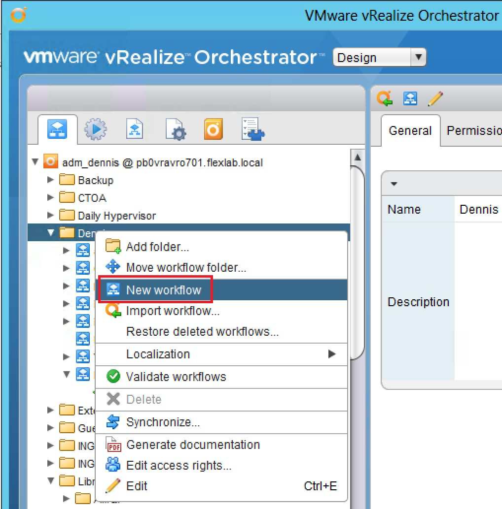 How to find the vro workflow used for your xaas service for Blue print creator