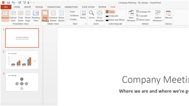 How to add your logo to all slides in PowerPoint 2013? Business