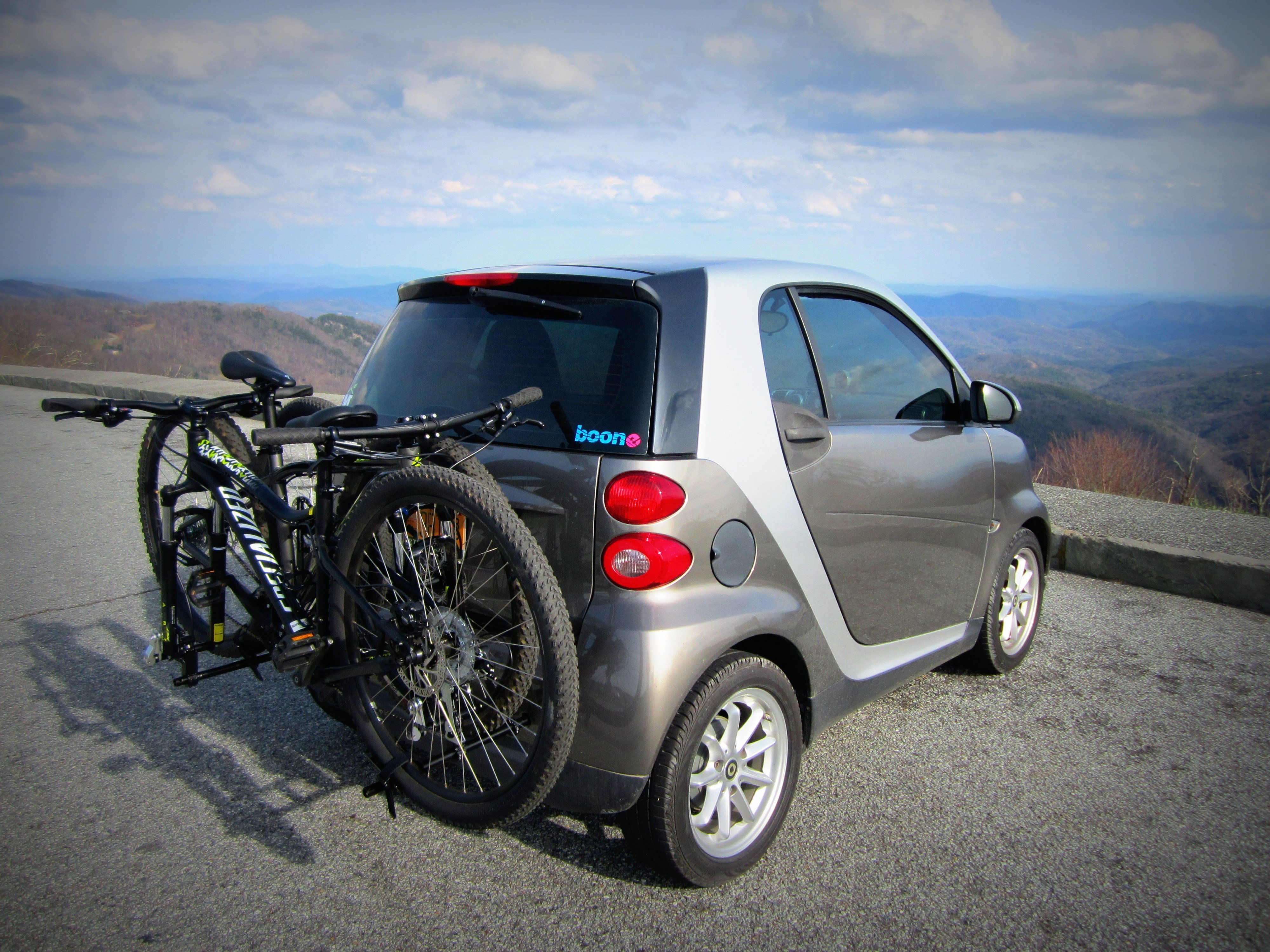 The Smart Car Bicycle Rack 2x2 Cycles