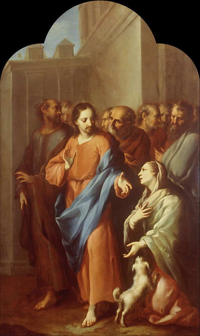 Painting of Jesus Curing the Crippled Woman