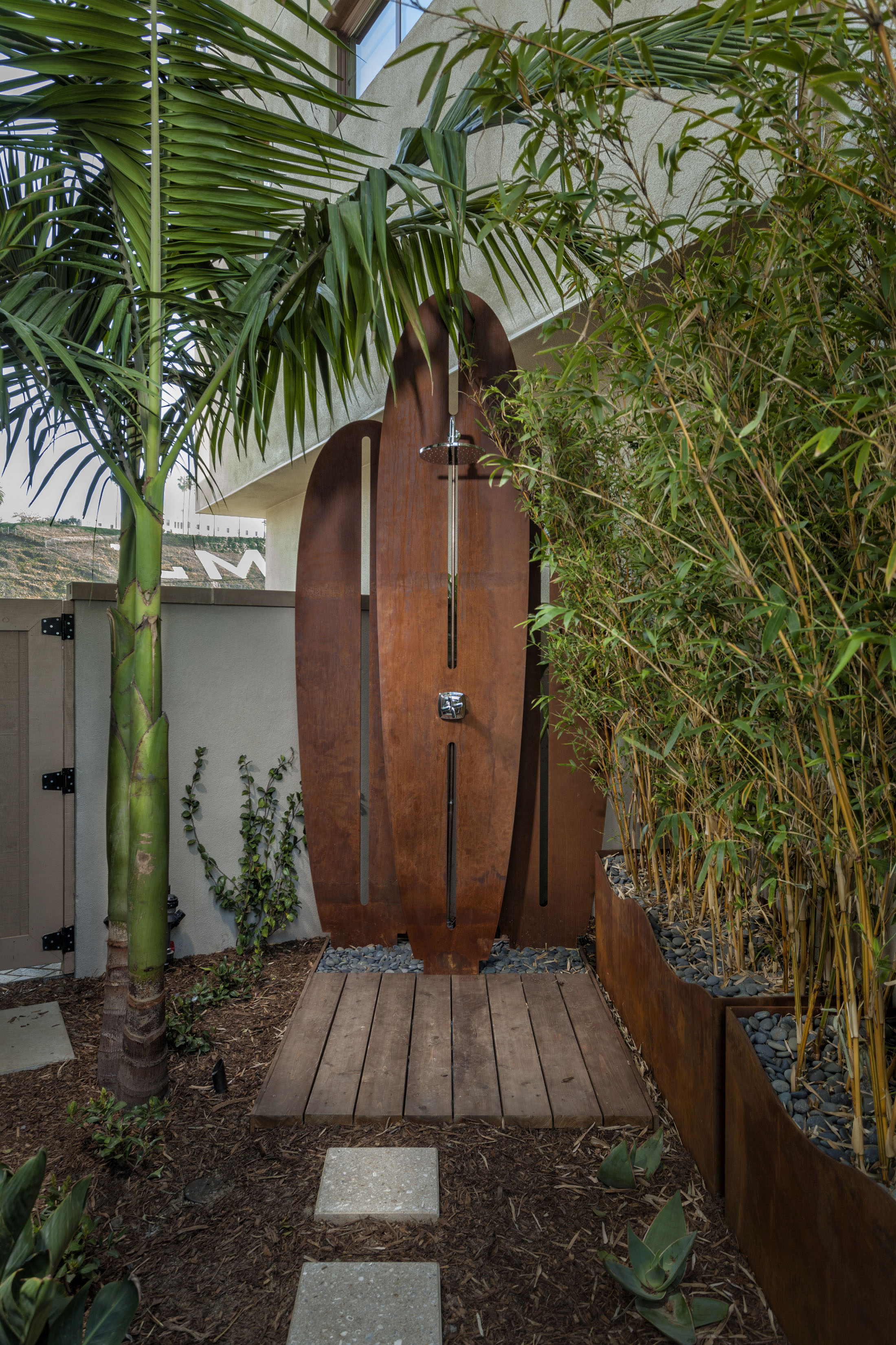 Make An Outdoor Shower Woodson At Playa Vista Pacific Dimensions