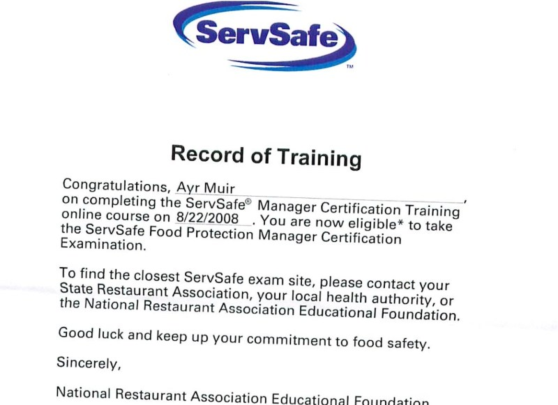 Food Protection Manager Certification Choice Image Creative
