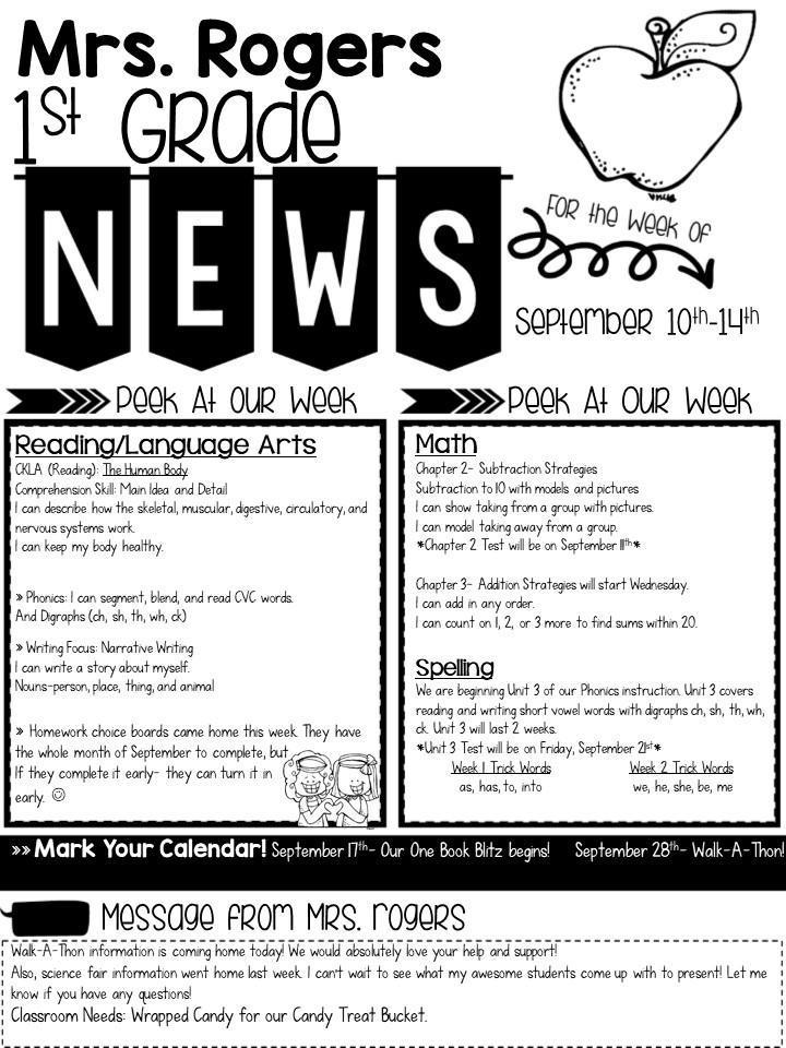 Newsletters \u2013 Chelsea Rogers \u2013 Highland Park Elementary School