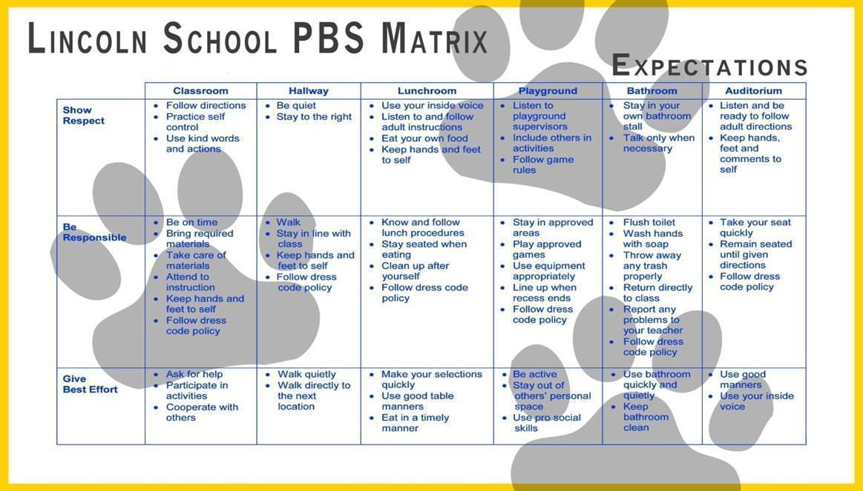 Classroom Expectations \u2013 Kristina Bellamy \u2013 Lincoln Elementary School