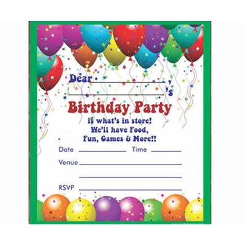 Birthday Invitation Card - View Specifications  Details of Birthday
