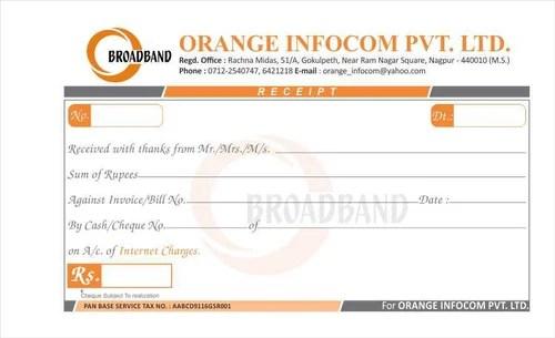 Receipt Book Printing Services in Hansapuri, Nagpur ID 8496002088