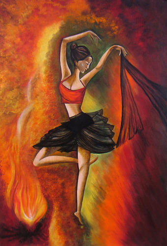 Human Fall Flat Wallpaper Sizzling Dance Acrylic Canvas Painting At Rs 11000 Pack