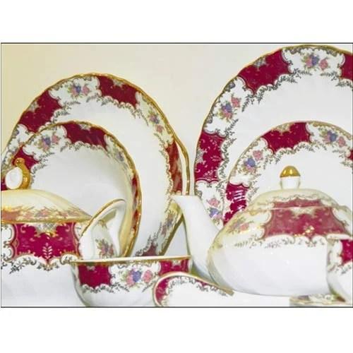 Dinner Set Bone China Gold Dinner Set Wholesaler From Khurja
