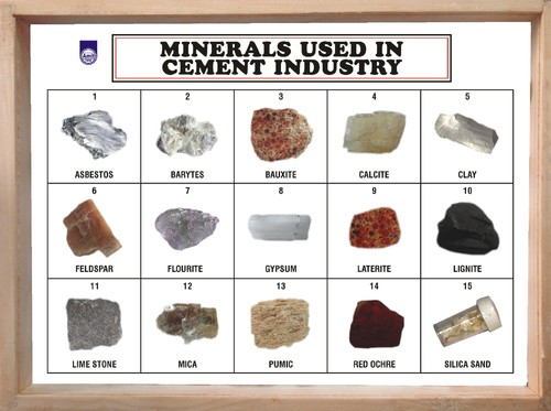 Minerals Used in Cement Industry (Set of 15) - Amit International