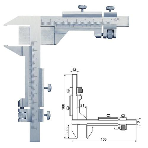 Gear Tooth Vernier - View Specifications  Details of Vernier