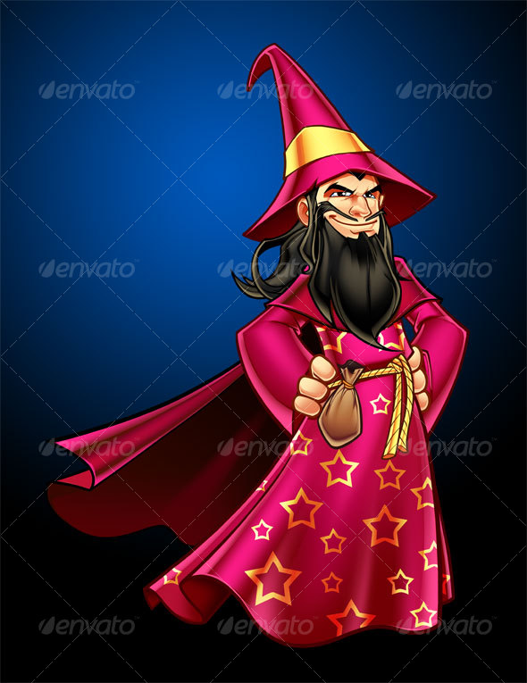Wizard Character Illustration