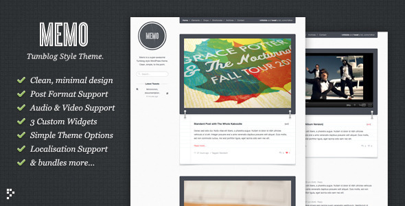 01 preview.  large preview 10 Great Tumblr Style Themes for Wordpress