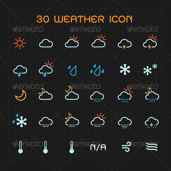 weather channel app icons meaning