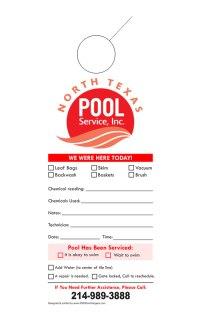 Pool Service Door Hanger Samples