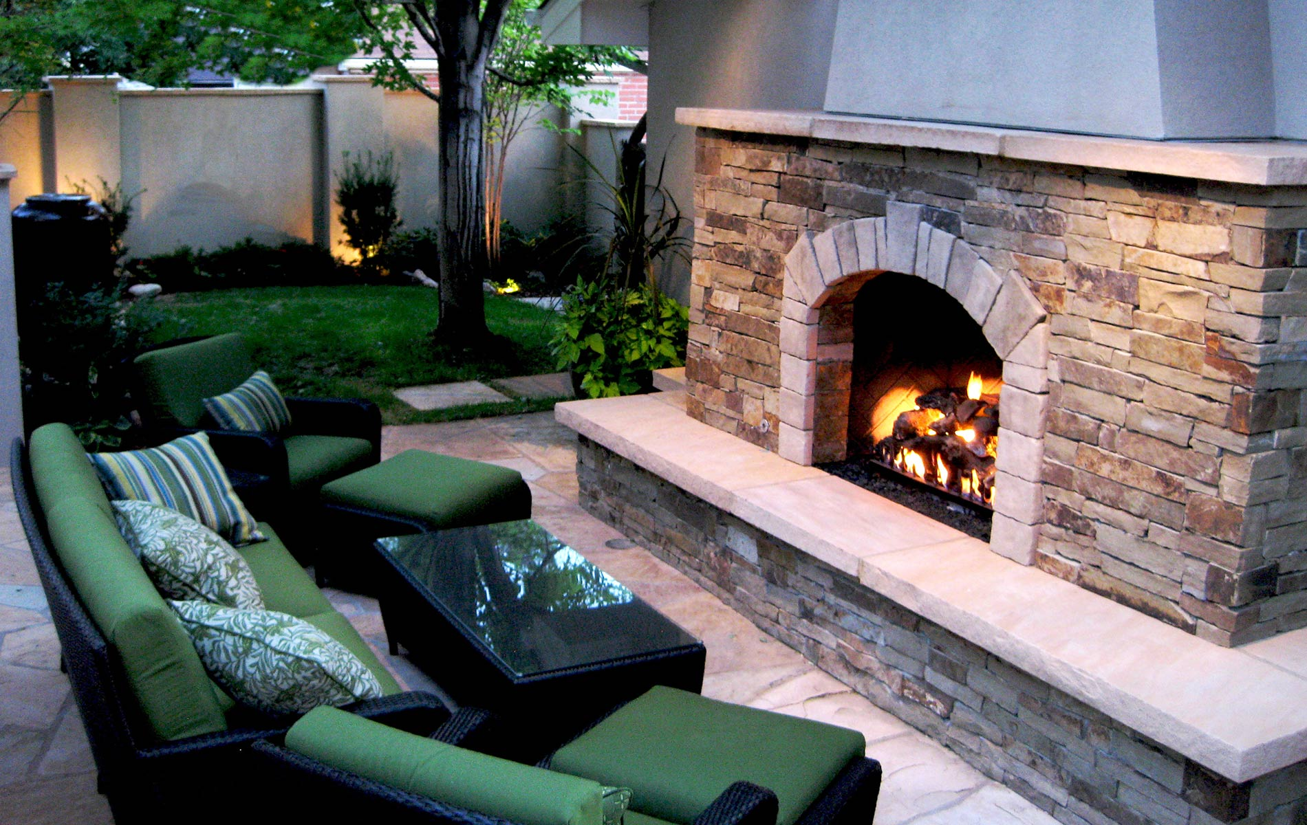 The fireplace and patio place - Mediterranean Courtyard Fireplace Mediterranean Patio Orange Mediterranean Courtyard Fireplace Mediterranean Patio Orange Stone Fire Place