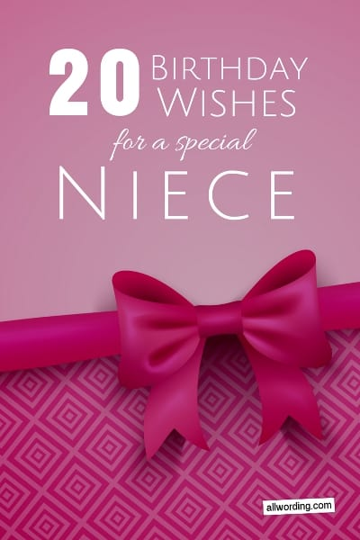 20 Birthday Wishes For a Special Niece » AllWording