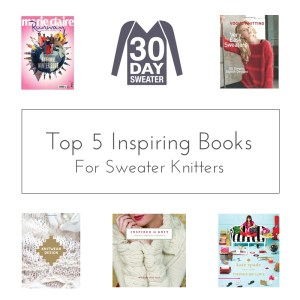 top 5 sweater knitting inspiration books