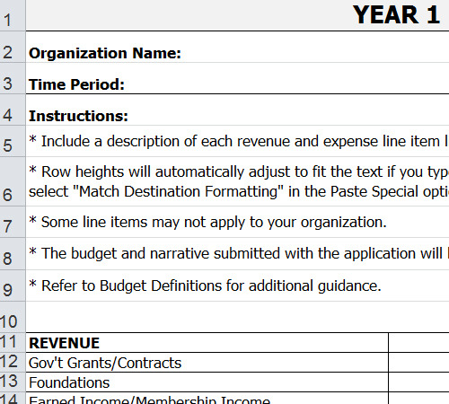 Hospital Operating Budget Template - sample operating budget