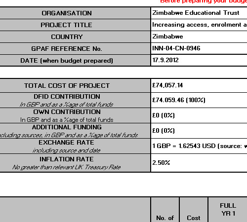 Project budget template download free for Volere template free download